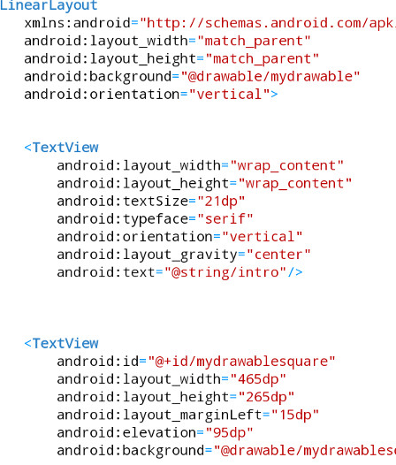 Android Tutorial Shape Drawables, Rotate, Elevate